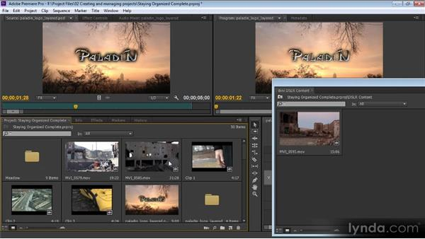 Staying organized: Premiere Pro CS6 for Avid and Final Cut Pro Editors