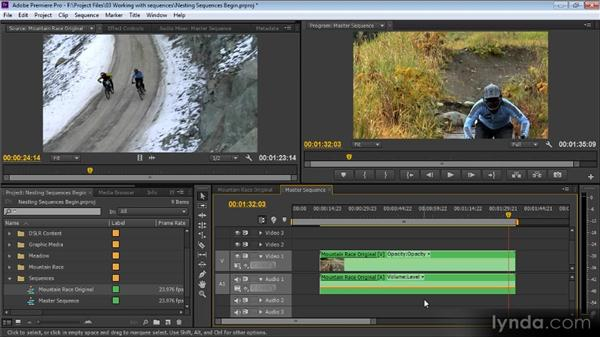 Nesting sequences: Premiere Pro CS6 for Avid and Final Cut Pro Editors