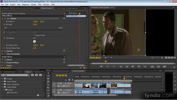 Overview of fixed effects: Premiere Pro CS6 for Avid and Final Cut Pro Editors