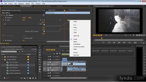 Keyframing effects: Premiere Pro CS6 for Avid and Final Cut Pro Editors