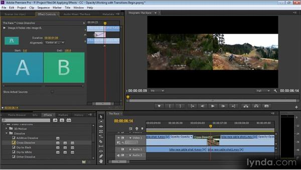 Working with transitions: Premiere Pro CS6 for Avid and Final Cut Pro Editors