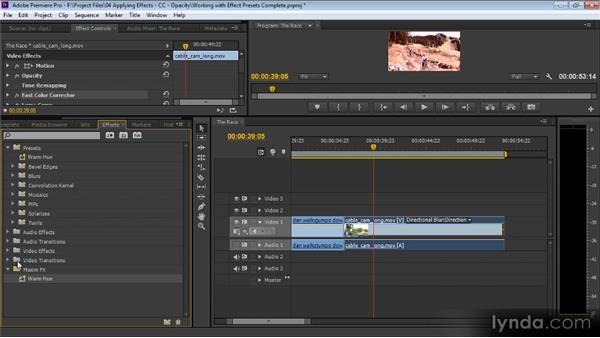 Working with effect presets: Premiere Pro CS6 for Avid and Final Cut Pro Editors