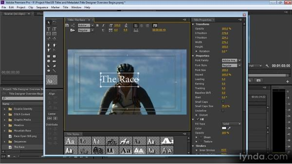 Title Designer overview: Premiere Pro CS6 for Avid and Final Cut Pro Editors