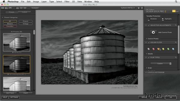 Working with the Silver Efex plugin for Photoshop: Black and White with Lightroom and Photoshop (2013)