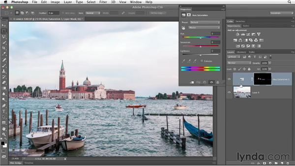 Precisely targeting an adjustment with a mask: Enhancing a Travel Photo with Photoshop and Lightroom