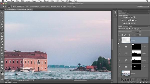 Removing distracting objects with content-aware tools: Enhancing a Travel Photo with Photoshop and Lightroom