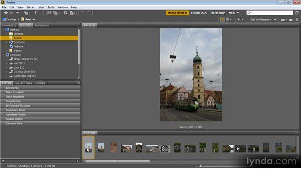 Navigating among photos: Bridge CS6 for Photographers