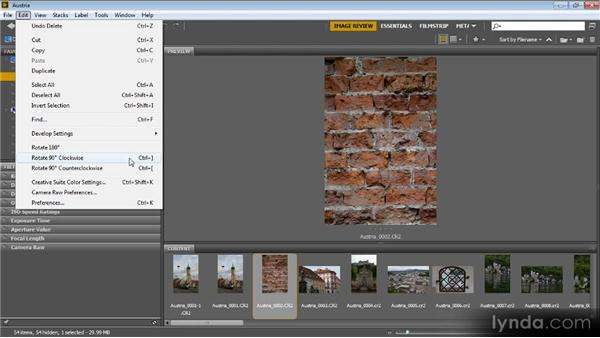 Rotating images: Bridge CS6 for Photographers