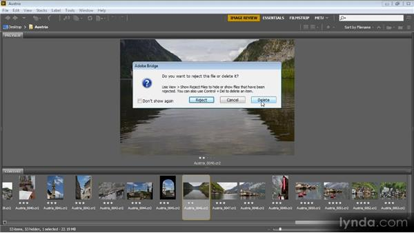 Rejecting and deleting photos: Bridge CS6 for Photographers