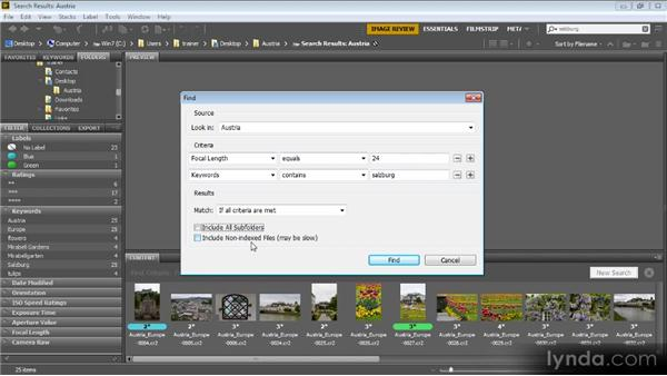 Searching and filtering: Bridge CS6 for Photographers