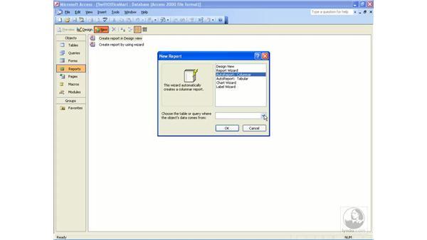 AutoReport: Access 2003 Essential Training