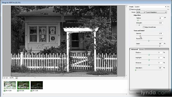 Creating a black-and-white HDR image: Getting Started with HDR