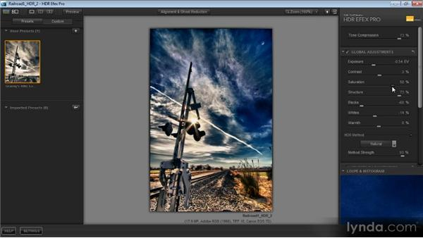 Making global adjustments: Getting Started with HDR
