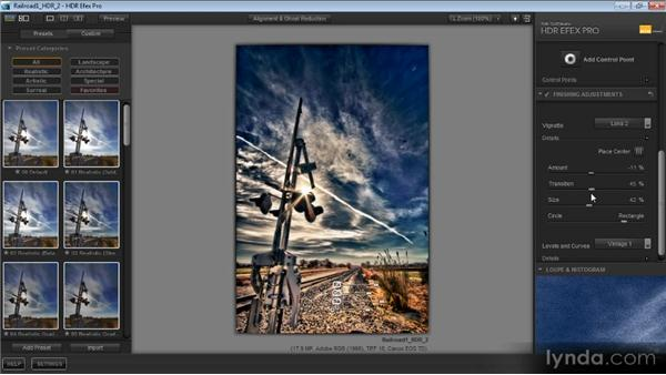 Finishing adjustments: Getting Started with HDR