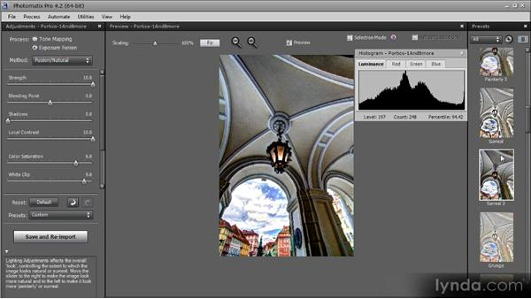 Using presets: Getting Started with HDR