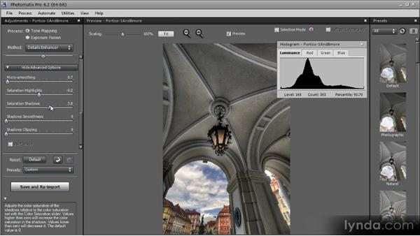 Advanced options: Getting Started with HDR