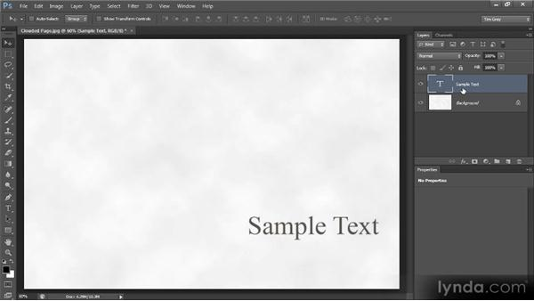 Editing and moving text: Photoshop CS6 Text Workshop