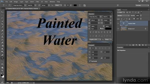 Overview of the Character and Paragraph panels: Photoshop CS6 Text Workshop