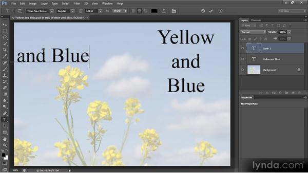 Basic text alignment: Photoshop CS6 Text Workshop