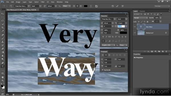 Kerning and tracking: Photoshop CS6 Text Workshop
