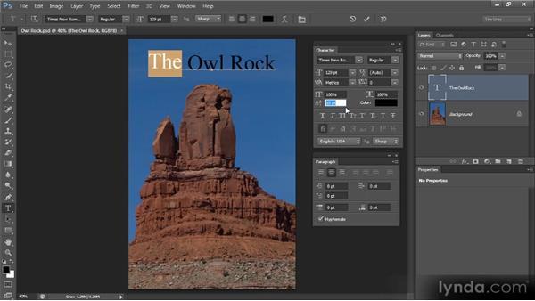 Baseline shift: Photoshop CS6 Text Workshop