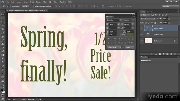 Ligatures and more: Photoshop CS6 Text Workshop