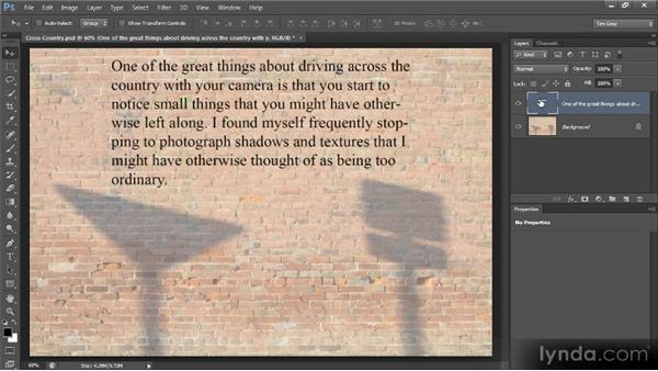 Hyphenation: Photoshop CS6 Text Workshop