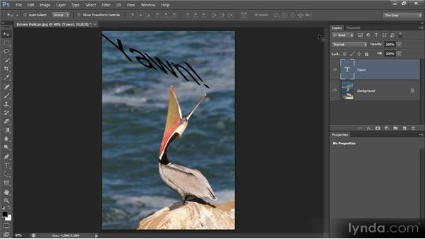 Transforming text: Photoshop CS6 Text Workshop