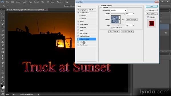 Adding layer effects: Photoshop CS6 Text Workshop
