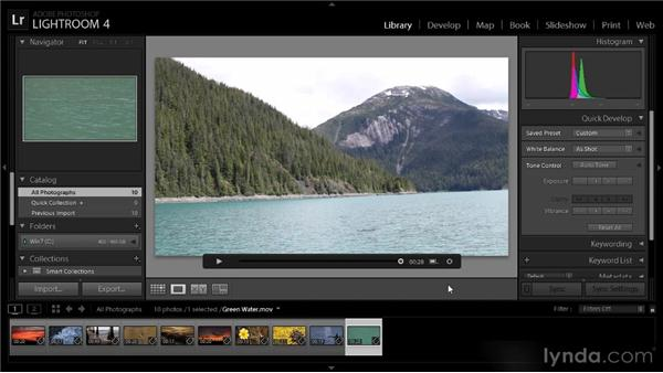 Changing the video thumbnail: Lightroom 4 Video Workshop