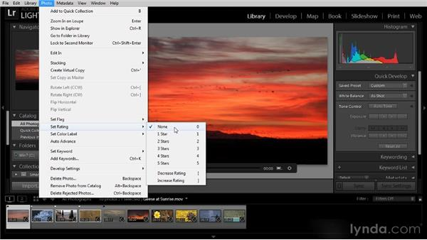 Picking flags, star ratings, and color labels: Lightroom 4 Video Workshop
