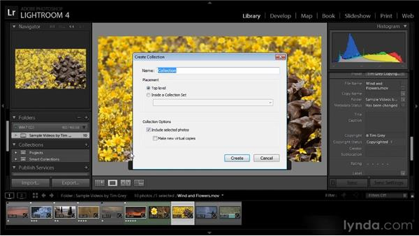 Using collections: Lightroom 4 Video Workshop