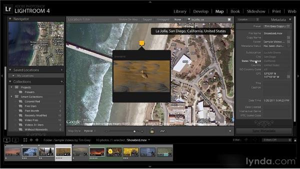 Putting videos on the map: Lightroom 4 Video Workshop