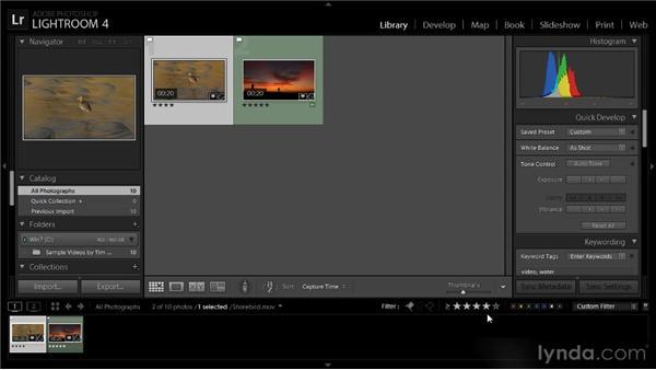 Filtering videos: Lightroom 4 Video Workshop