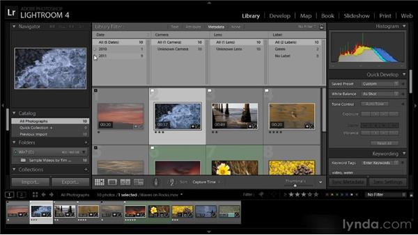 Searching for videos: Lightroom 4 Video Workshop
