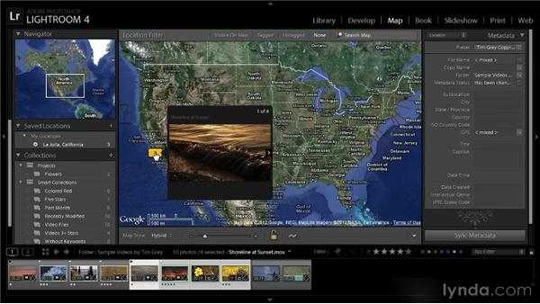 Finding videos on the map: Lightroom 4 Video Workshop