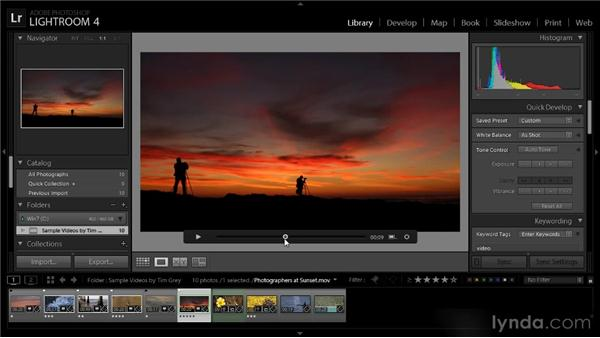 Extracting a still image from video: Lightroom 4 Video Workshop