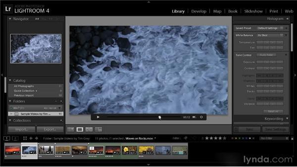 Adjusting tone and color for video: Lightroom 4 Video Workshop