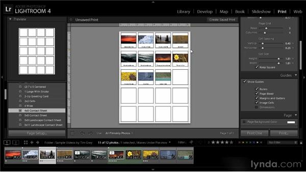 Video contact sheet: Lightroom 4 Video Workshop