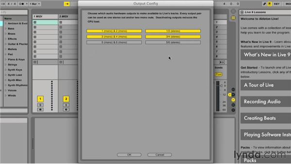 Setting up audio preferences: Ableton Live 9 Essential Training