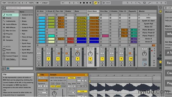 Nonlinear sequencing with Session view: Ableton Live 9 Essential Training
