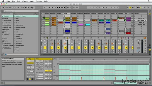 Loading and playing clips: Ableton Live 9 Essential Training