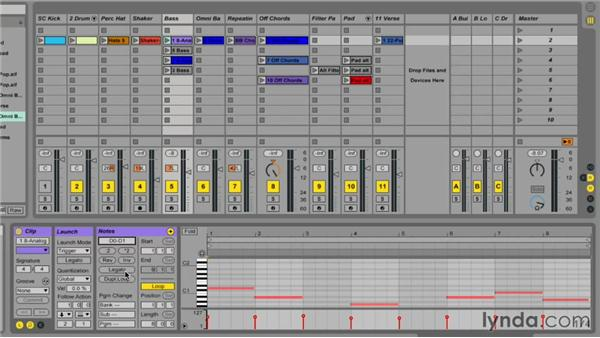 Working with clip properties: Ableton Live 9 Essential Training