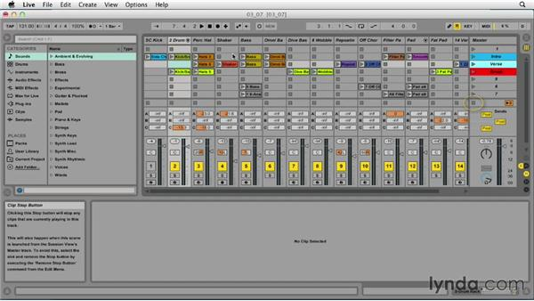 Working with scenes: Ableton Live 9 Essential Training