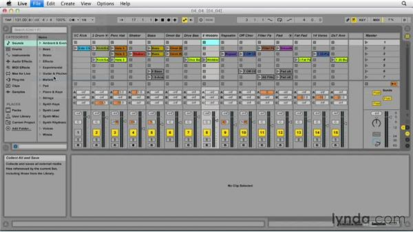 Managing files in Live: Ableton Live 9 Essential Training