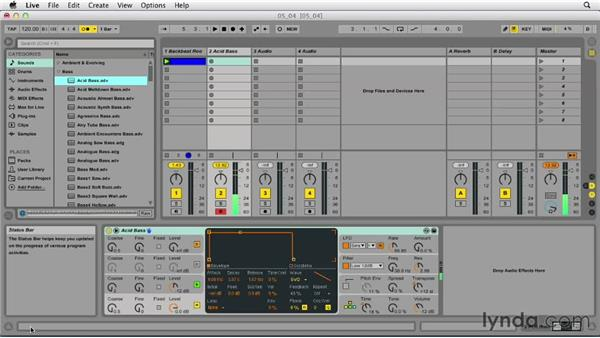 Using a computer keyboard to enter MIDI: Ableton Live 9 Essential Training