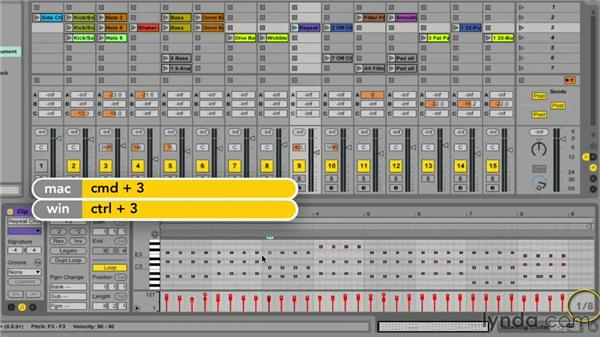 Configuring the MIDI Editor grid: Ableton Live 9 Essential Training