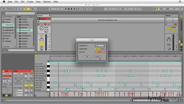 Selecting and quantizing MIDI: Ableton Live 9 Essential Training