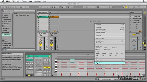 Editing pitch and note duration: Ableton Live 9 Essential Training