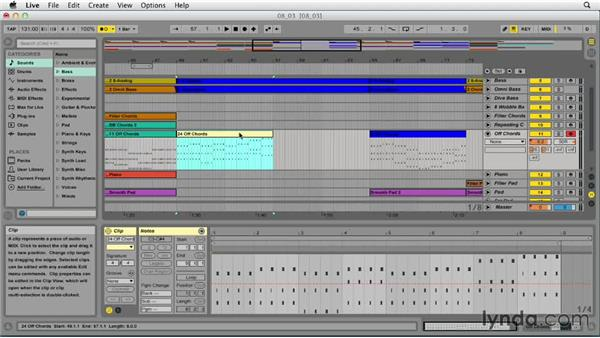 Recording in Arrangement view: Ableton Live 9 Essential Training
